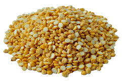 Split Chana bean. Indian pulses on an  background Royalty Free Stock Photo