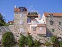 Split city. Old houses in Split, city of dalmatia royalty free stock photos