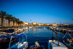 Split city centre view Royalty Free Stock Images