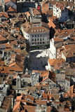 Split, Croatia, aerial view of People's square Royalty Free Stock Images