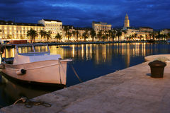 Split city by night Stock Photos