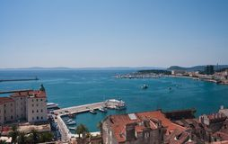 Split city view, Croatia Royalty Free Stock Photos