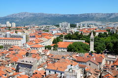 Split City View 5. The old town of Split, a location where a popular motion picture was filmed, and a popular cruise destination, in Croatia Royalty Free Stock Photography