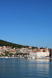 Split City View 6. Promenade Riva of the city of Split, a popular cruise destination, Croatia Stock Image