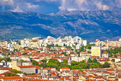 Split cityscape and Mosor mountain Royalty Free Stock Image