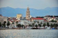 Split cityscape on sunset. Split cityscape, mediterranean city in Croatia Stock Photos