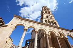 Split, Croatia. Croatia - Split in Dalmatia. Diocletian's Palace - famous UNESCO World Heritage Site Royalty Free Stock Photography