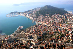 Split in Croatia, aerial view Stock Image