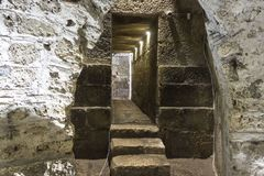 Crypt under Diocletian Palace in Split Royalty Free Stock Photos