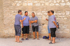 Split, Croatia a cappalle singers Royalty Free Stock Photos