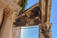 Split, Croatia colonnade buttress Stock Photos