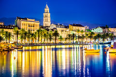Split, Croatia - Diocletian Palace and Domnius Cathedral stock photo