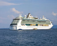 Split, Croatia - giant ferry toward Split harbor Stock Images