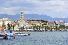 Diocletian`s Palace. Split, Croatia. Royalty Free Stock Photography
