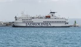Sea ferry in the city of Split. Royalty Free Stock Photography