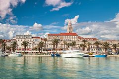 Split harbour architecture Royalty Free Stock Images