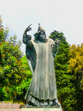Split, Croatia - May 08, 2014: Monumental bronze statue of Bishop Gregory Royalty Free Stock Images