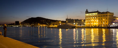 Split, Croatia by night Stock Photo