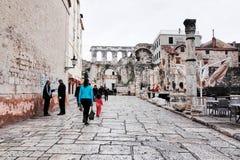 Split`s Old Town, SPLIT, CROATIA. SPLIT, CROATIA - NOVEMBER 5, 2014 : Split`s Old Town stock images
