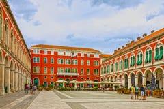 Split, Croatia, old town square Royalty Free Stock Image