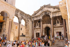 Split, Croatia Peristyle stock images