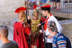 Split, Croatia Roman soldiers Royalty Free Stock Photography