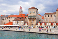 Split, Croatia. TROGIR, CROATIA - AUGUST 25: View of promenade in Trogir on August 25, 2012. Trogir is a historic town and harbour on the Adriatic coast in Split Royalty Free Stock Image