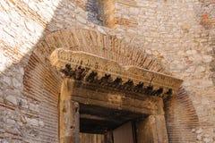 Split, Croatia Vestibule lintel Royalty Free Stock Image