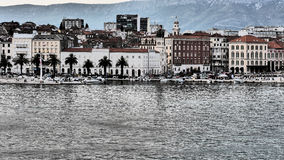 Split Croatian city on the Adriatic Sea Stock Photography