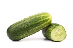 Split of cucumber. Royalty Free Stock Photos