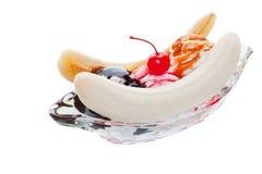 Split de banana fotos de stock