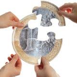 Split do dinheiro Imagens de Stock