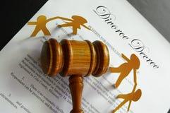 Split do divórcio Fotografia de Stock Royalty Free