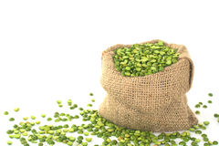 Split Dried Green Pea Royalty Free Stock Images
