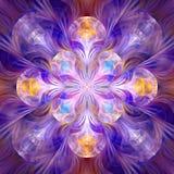 Split Elliptic Valkyrie fractal art. Apophysis rendered fractal art used for abstraction colour used Black, White, Gold, Yellow, Blue, Red, Brown vector illustration