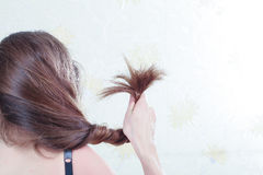 Split ends of hair Royalty Free Stock Photography