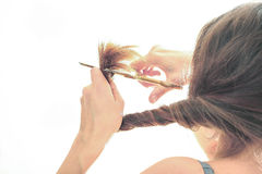 Split ends of hair Royalty Free Stock Photos
