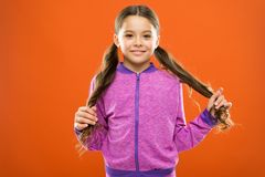 Split ends treatment. How to prevent split ends. Treatment hair breakage. Amazing beauty remedies for split hair. Get. Rid of split ends. Girl cute child with royalty free stock photos