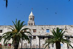 split för croatia diocletian slott s Arkivbilder