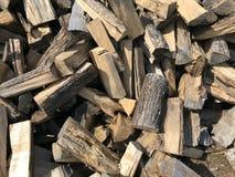 Split Firewood Background Royalty Free Stock Photography