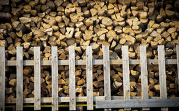 Split firewood stack Stock Images