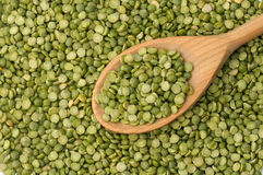 Split green peas Stock Photos