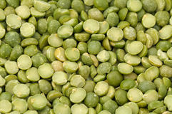 Split green peas macro Royalty Free Stock Image