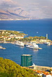 Split harbor and Biokovo mountain view Stock Photos