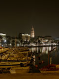 Split - harbor  in the night 3 Royalty Free Stock Images
