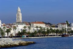 Split harbour. View on old city in Split, Croatia from the harbour Stock Photos
