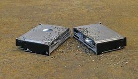 Split hard disk Stock Photography