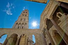 Split historic center cathedral view Royalty Free Stock Photo