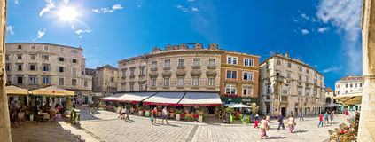 Split historic square panoramic view Royalty Free Stock Photo