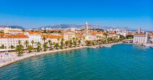 Free Split In Croatia From Above Stock Photos - 156315753